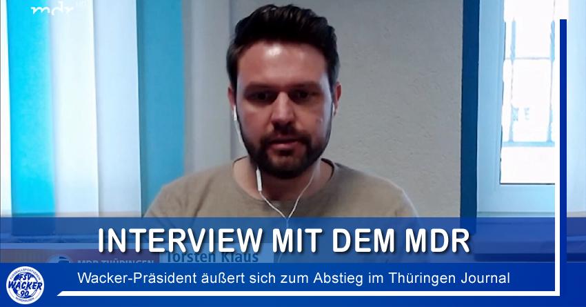 Interview mit dem MDR