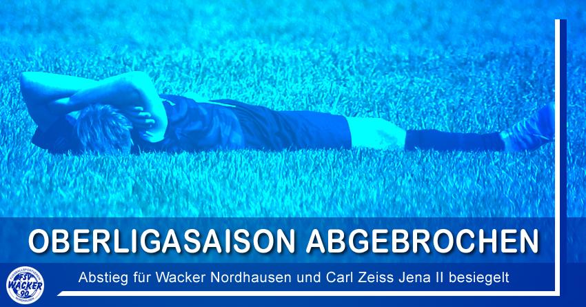 Oberligasaison abgebrochen