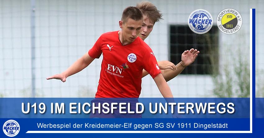 U19 im Eichsfeld unterwegs